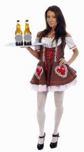 Miss Beer Lady FancyDress Costume