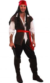 MENS CARRIBBEAN PIRATE COSTUME
