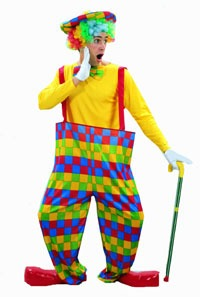 Fancydress Adult mens clown rainbow