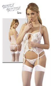Suspender shirt set white