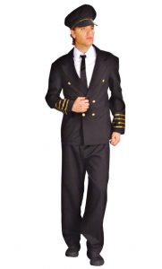 Mens Cockpit Pilot  Costume