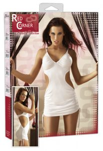 Red Corner White Mini Dress-small