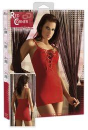 Cottelli Sexy Red Lace up Mini Dress-large
