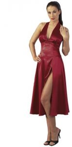 Sexy Red Satin Cottelli Dress (medium)