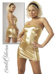 Sexy Gold Strapless Minidress (x-large)