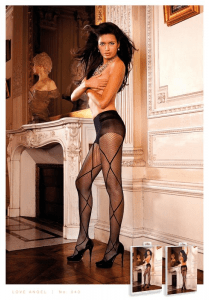 Baci Lingerie Control Top Jacquard Pantyhose/Tights