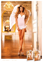 Baci Lingerie Fine Mesh White Chemise with Bows