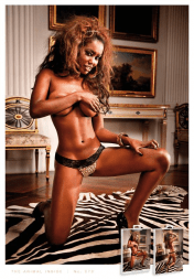 Baci Lingerie Black Lace and Microfiber Thong