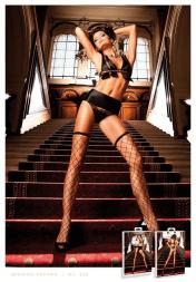 Baci Lingerie Black Diamond Net Pantyhose/Stockings