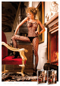 Baci Lingerie Black  Lace Bodystocking/Catsuit