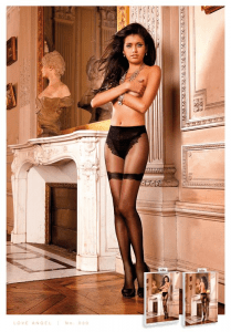 Baci Lingerie French Lace Sheer Jacquard Pantyhose