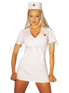 PVC Dream Nurse Uniform with Hat