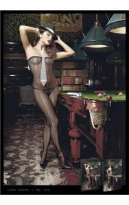 Baci Lingerie Black Strapless Graphic Pattern Bodystocking