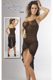 Black Transparent Dress with G-String