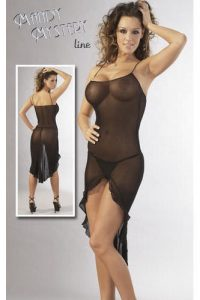Black Transparent Dress with G-String