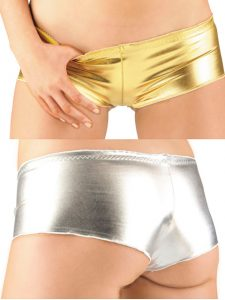 High Shine Metallic Hot Pants
