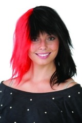 Deluxe Black/Red Wig