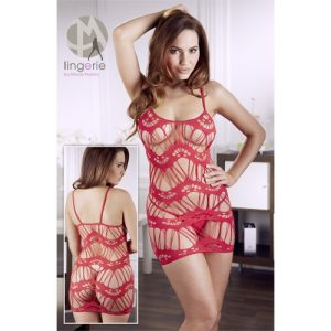 Red Mini Dress with G-String