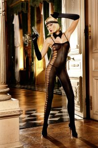 Baci Sheer Jacquard Bodystocking